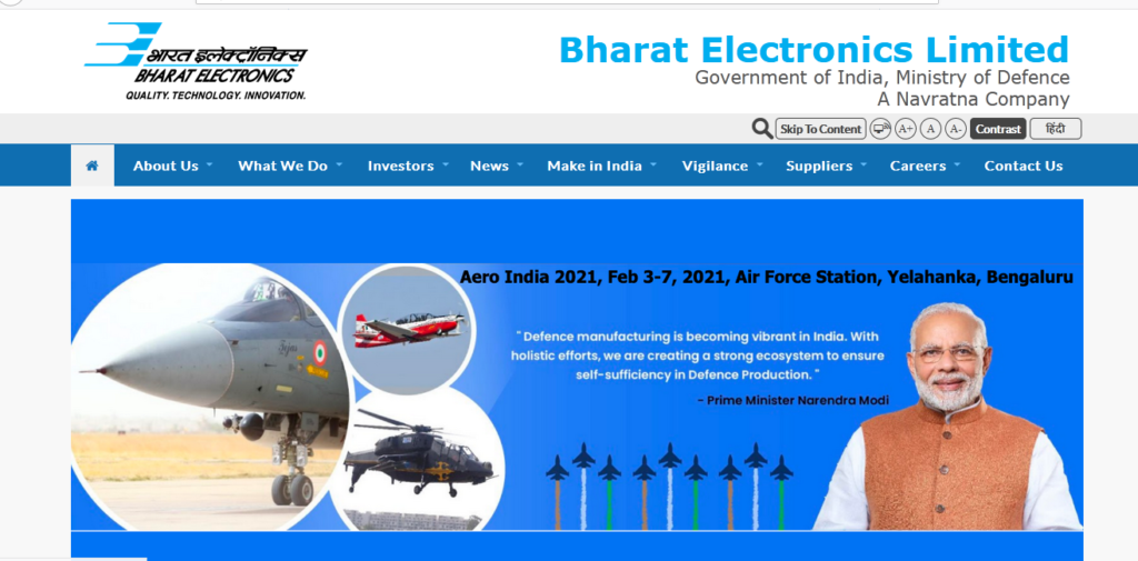 Bharat Electronics Limited - Bel Recruitment 2020 Apply now